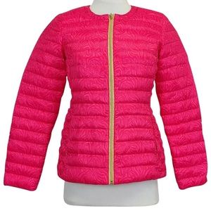 Lilly Pulitzer pink reversible jacket